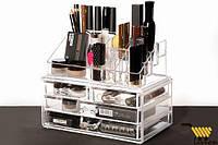 Акриловый органайзер для косметики BEAUTY BOX, органайзер настольный, органайзер для хранения косметики