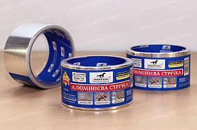 Алюминиевая лента скотч для монтажных работ самоклеящаяся 50мкн*50*25м Mustang