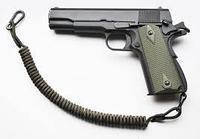 Шнур страховочный для пистолета. Паракорд. Черный. Длина 35-100 см.