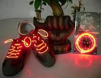Светящиеся шнурки (КРАСНЫЕ led светодиодные), фото 1