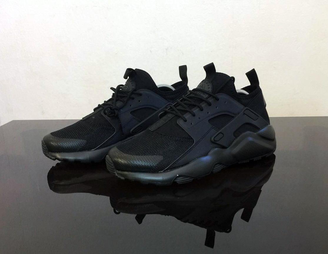 Мужские Кроссовки   Nike Huarache Ultra Black