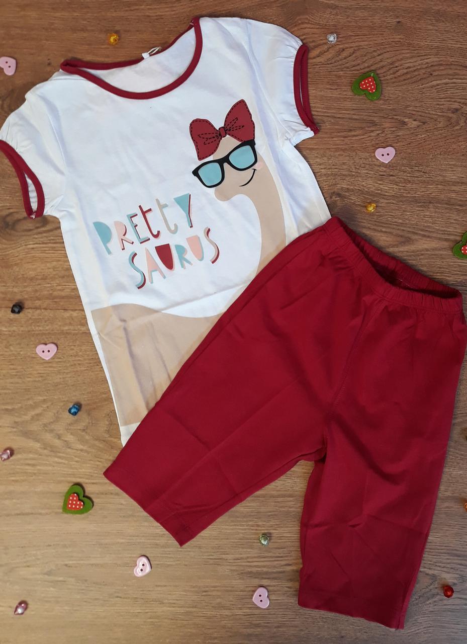 Пижама для девочек 4 года Рост 110 Красный Супрем ПЖ45(110) Бэмби Украина