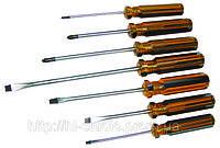 Набор отверток с пластм.ручкой, 6 шт., ударные, Technics (47-490)