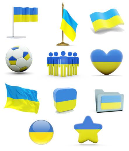 Флаги и символика украины, сувенирная продукция