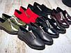 40 размер! Туфли женские на низком ходу Zan@ti натуральный красный замш, фото 2