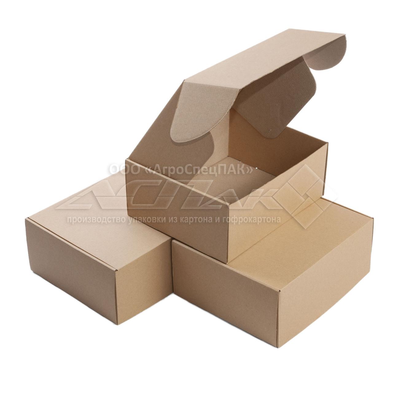 Самосборные коробки 270*220*110 бурые