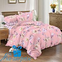 Комплект постельного белья с двумя пододеяльниками из сатина ВИНТАЖ