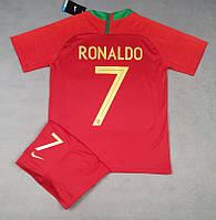 Детская футбольная форма РОНАЛДО, сборная Португалии (основная к ЧМ 2018)