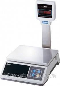Весы для простого взвешивания настольные со стойкой CAS SWII-20 (не поставляются)