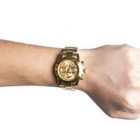 Часы наручные Rolex Daytona (Gold) кварцевые, часы ролекс, золотые часы 786aacb7aed