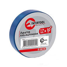 Лента изоляционная 17мм x 10м x 0,15мм синяя Intertool IT-0010
