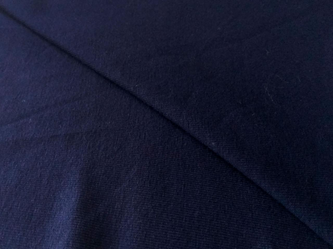 Вискозный трикотаж джерси, темно-синий