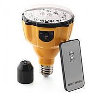 Светодиодная аккумуляторная лампа (22 LED) с цоколем (Е27) и пультом ДУ   SL-888