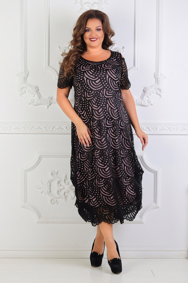 Гипюровое платье больших размеров (50-56)