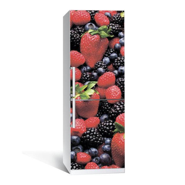 Виниловая наклейка на холодильник Лесная ягода ламинированная двойная (самоклеющаяся пленка)