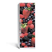 Акция ВЕСНА! Виниловая наклейка на холодильник Лесная ягода ламинированная двойная (самоклеющаяся пленка фотопечать)