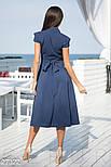 Плаття з v-подібним вирізом синє, фото 3