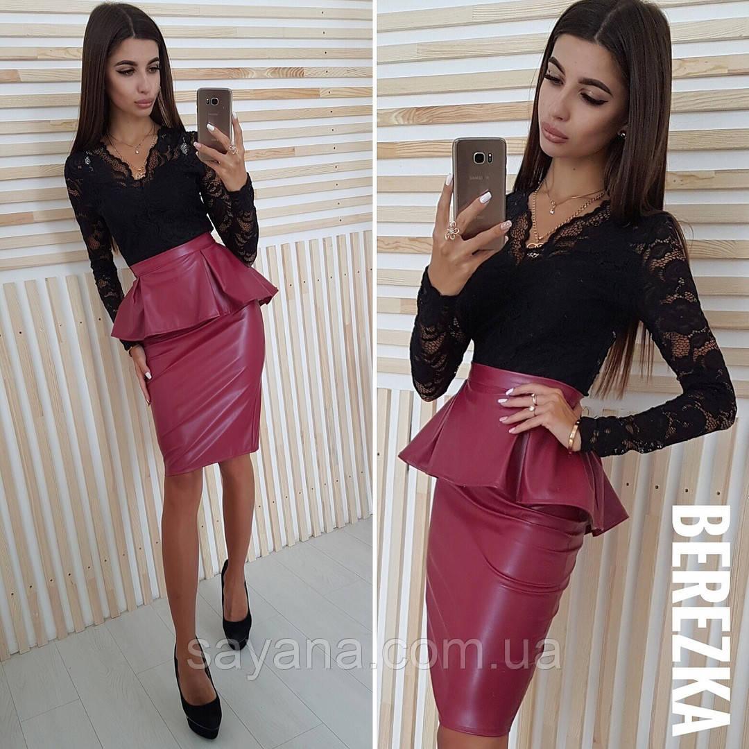 516714dd892 Купить Женскую костюм  кофту и юбку с баской в расцветках. СФ-11 ...