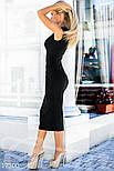 Облегающее платье-футляр черное, фото 2