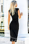 Облегающее платье-футляр черное, фото 3