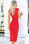 Облегающее платье-футляр красное, фото 3