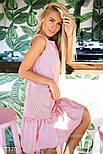 Летнее платье оверсайз красное в белую полоску, фото 2
