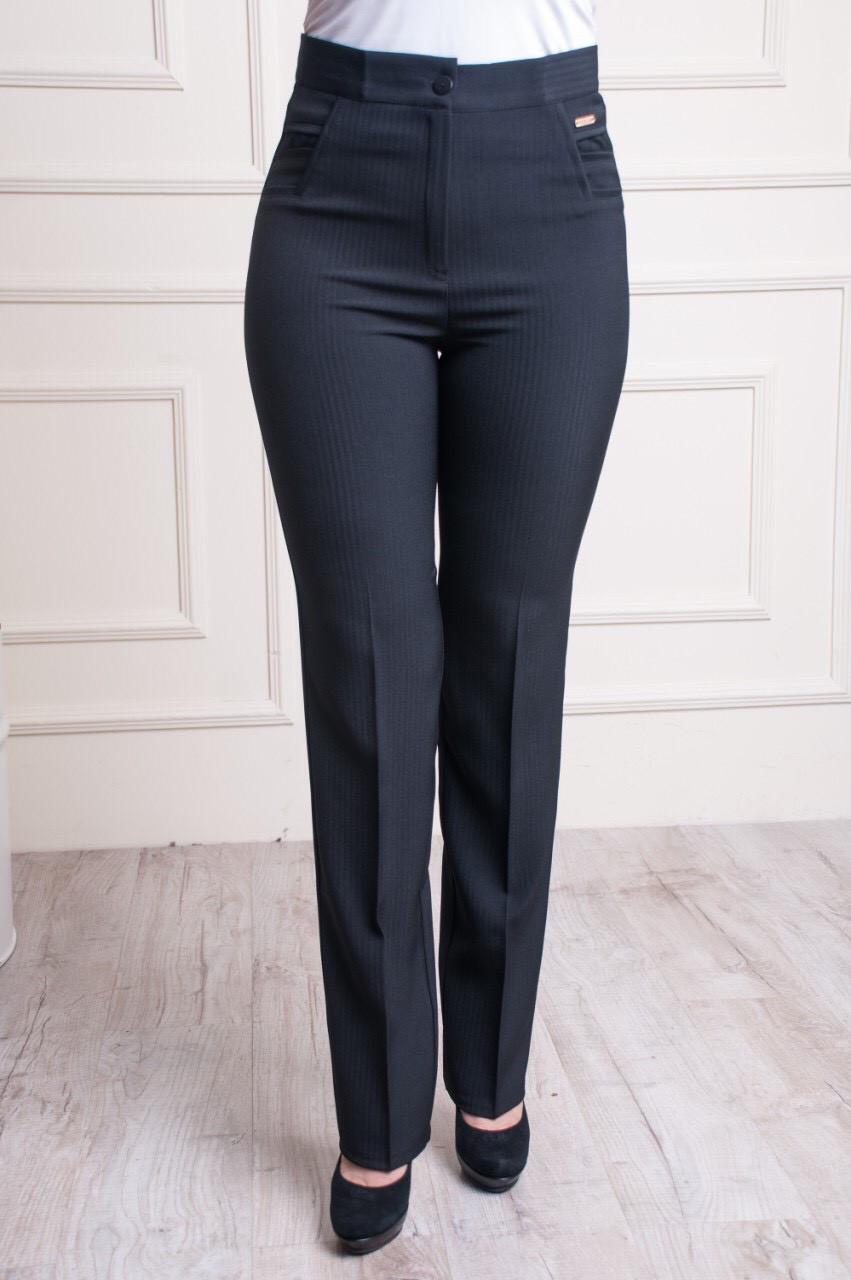 Классические женские брюки больших размеров черные, 56