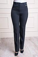 Классические женские брюки больших размеров черного цвета