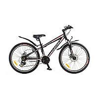 Велосипед горный (MTB), кросс-кантри Optima Blackwood 24 2014 / рама 13 черный/белый/оранжевый