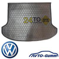 Коврик в багажник для VW T 5 (2010-...) Caravelle резинопластиковый (Avto-Gumm), Фольксваген Транспортер Т5