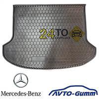 Коврик в багажник для MERCEDES W 222 (без регулировки сидений), резинопластиковый (Avto-Gumm), Мерседес В222