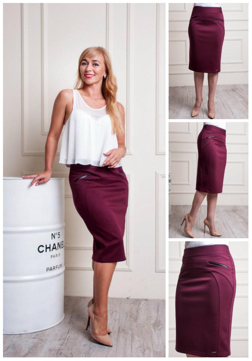 Женская стильная юбка карандаш. 48-58