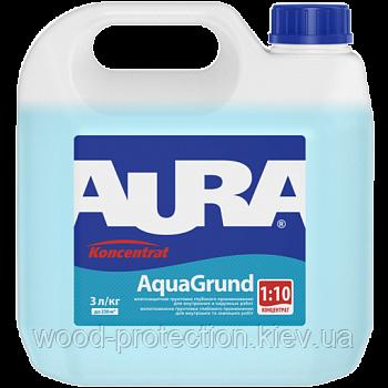 Вологозахисна ґрунтовка Aura AquaGrund (Аура Аквагрунт) 3л