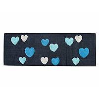 Коврик Irya - Feel mavi черный/голубой 50*150