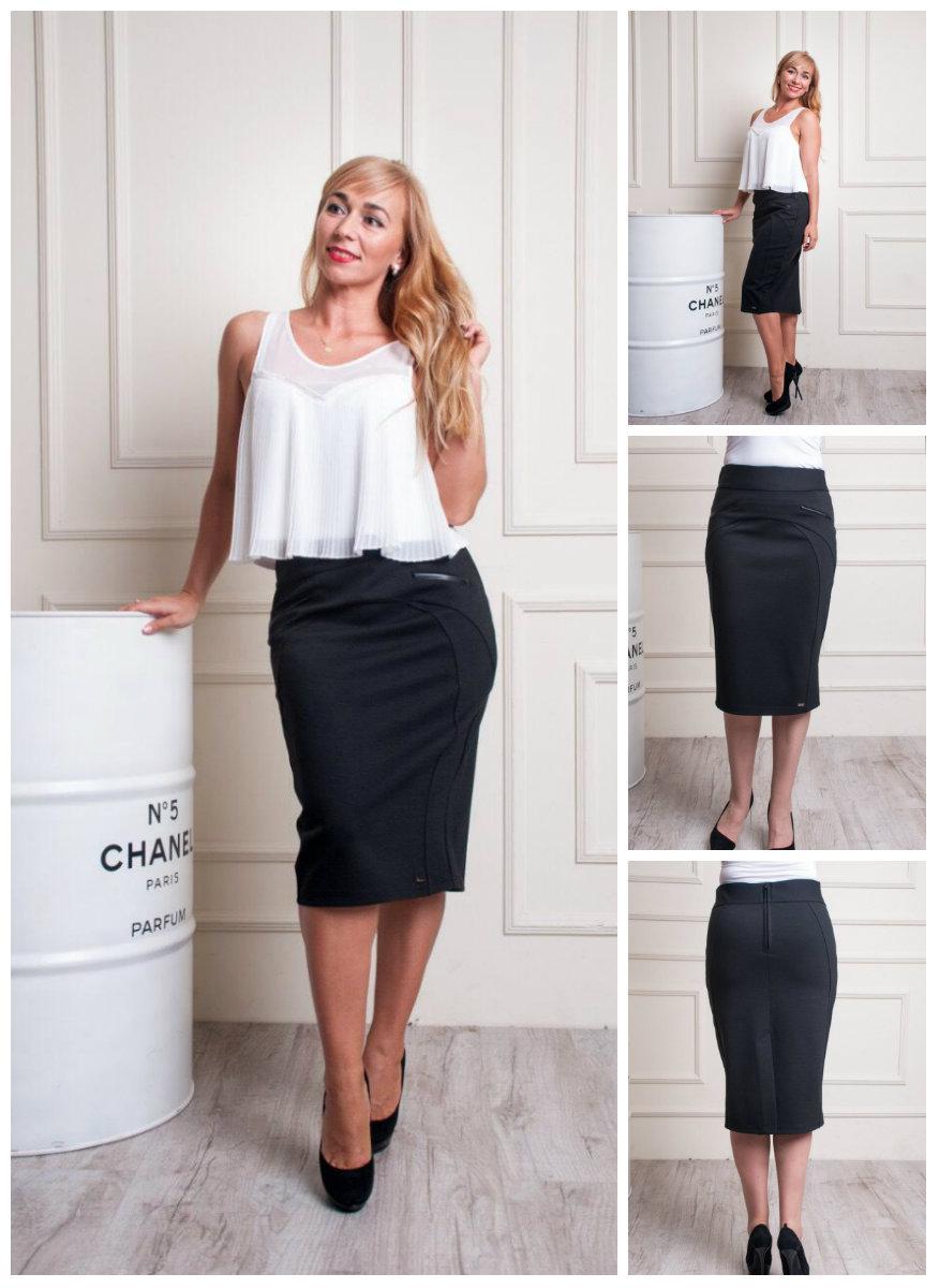 871a6d9023f Женская стильная юбка карандаш. 48-58  продажа