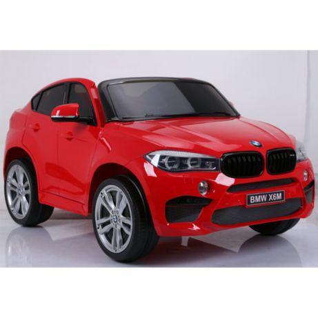 Детский двухместный электромобиль Джип BMW X6M JJ2168-3 сидение эко-кожа, мягкие колеса
