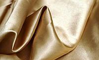 Ткань атлас однотонный светло-бежевый (портьера)