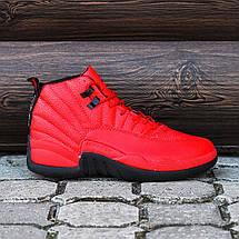 Баскетбольные кроссовки в стиле Nike Air Jordan 12 Retro Red/Black, фото 3