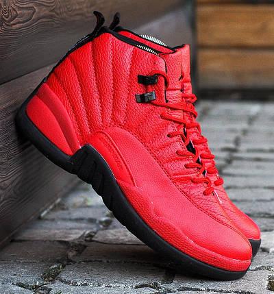 Баскетбольные кроссовки в стиле Nike Air Jordan 12 Retro Red/Black, фото 2
