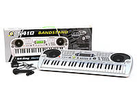 Синтезатор для детей mq5410, демо-режим, запись мелодий, аккомпанемент, жк-дисплей, динамики, микрофон, 220в