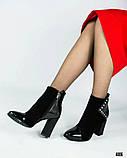 Классические женские ботильоны на каблуке, фото 3