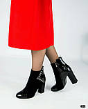 Классические женские ботильоны на каблуке, фото 4