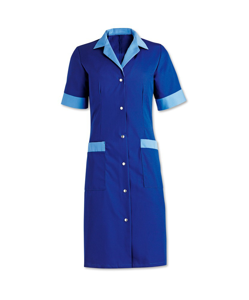 Униформа для горничной, халат для уборщицы синий Atteks - 00801