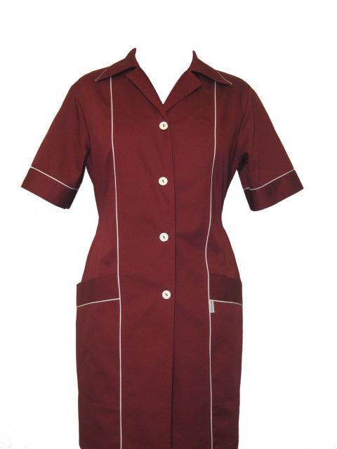 Униформа для горничной, халат для уборщицы бордовый Atteks - 00810