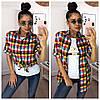 """Женский набор 2-ка: футболка """"GUCCI"""" и рубашка в расцветках. МС-1-0818, фото 5"""