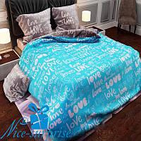 Полуторное постельное белье из бязи LOVE (150*220)