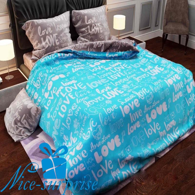 4c03f4b636ac Постельное белье Евро размер из бязи LOVE - купить постельное белье ...