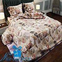 Полуторное постельное белье из бязи СЕРДЕЧКИ (150*220)