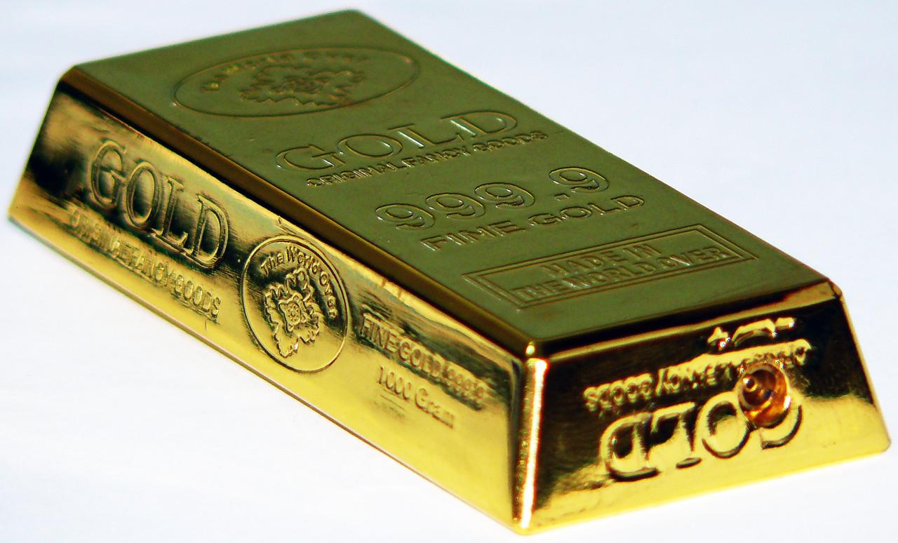 Зажигалка газовая слиток золота №3509
