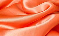 Ткань атлас однотонный ярко-оранжевый (портьера)